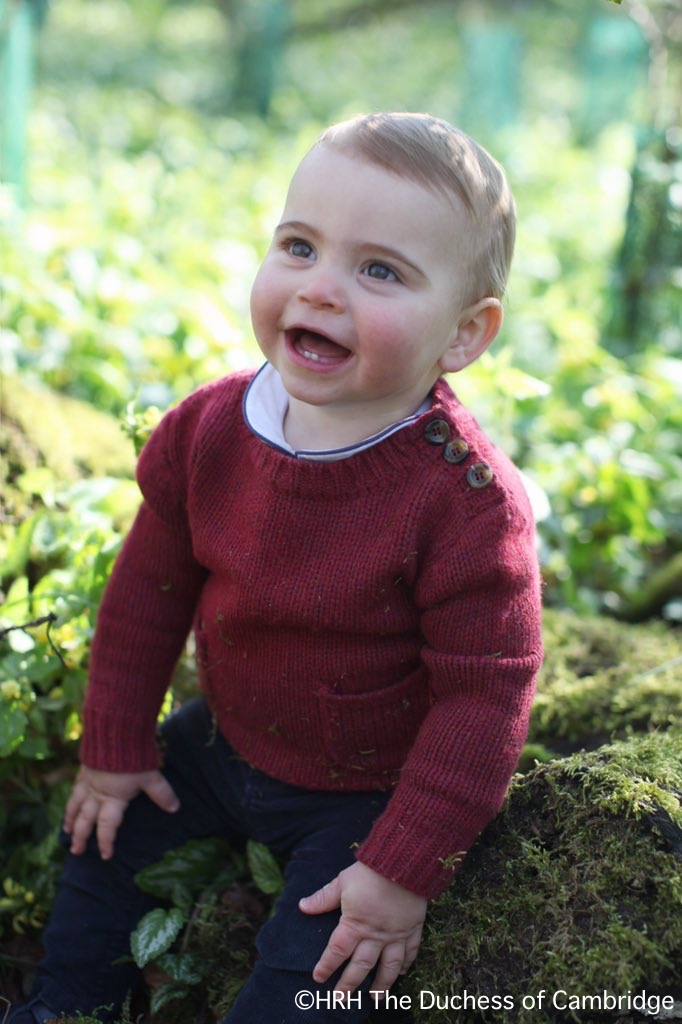 Catherine Shares Portaits for Prince Louis' First Birthday